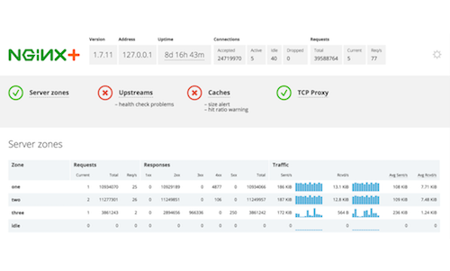 Track System Health with NGINX Plus Live Activity Monitoring
