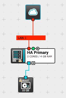 Configure Internet access for the primary NGINX Plus instance in ProfitBricks