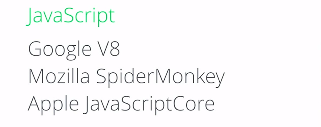 JavaScript VMs (including Google V8, Mozilla SpiderMonkey, and Apple JavaScriptCore) were developed for browsers
