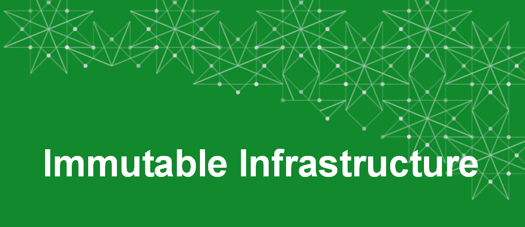 Immutable infrastructure title slide about using NGINX in your infrastructure, whether it be monolith or microservices architecture, to iterate faster and increase human fault tolerance