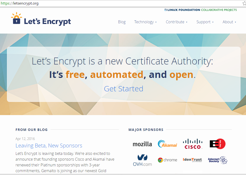Let's Encrypt is a new certificate authority that is aiming to be the all-in-one solution to website security, providing websites and NGINX with HTTPS [presentation given by Yan Zhu and Peter Eckersley from the Electronic Frontier Foundation (EFF) at nginx.conf 2015]