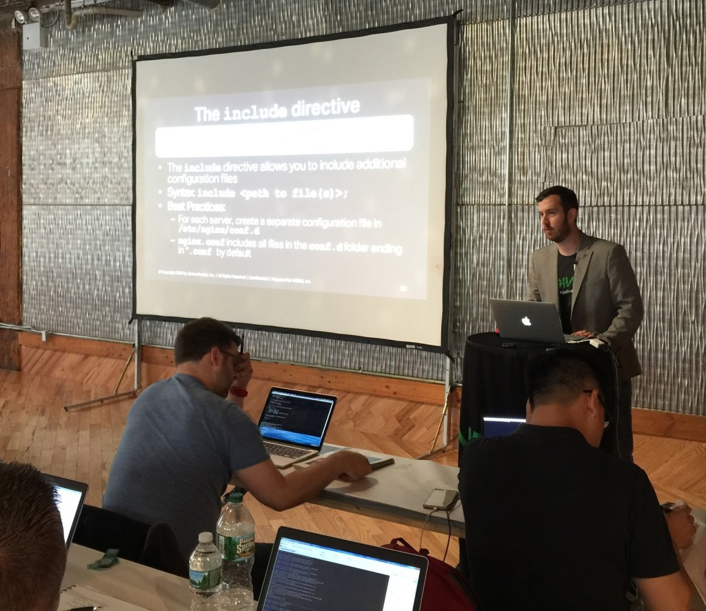 Introducing the NGINX Core and microservices training on how to use NGINX as a web server and reverse proxy