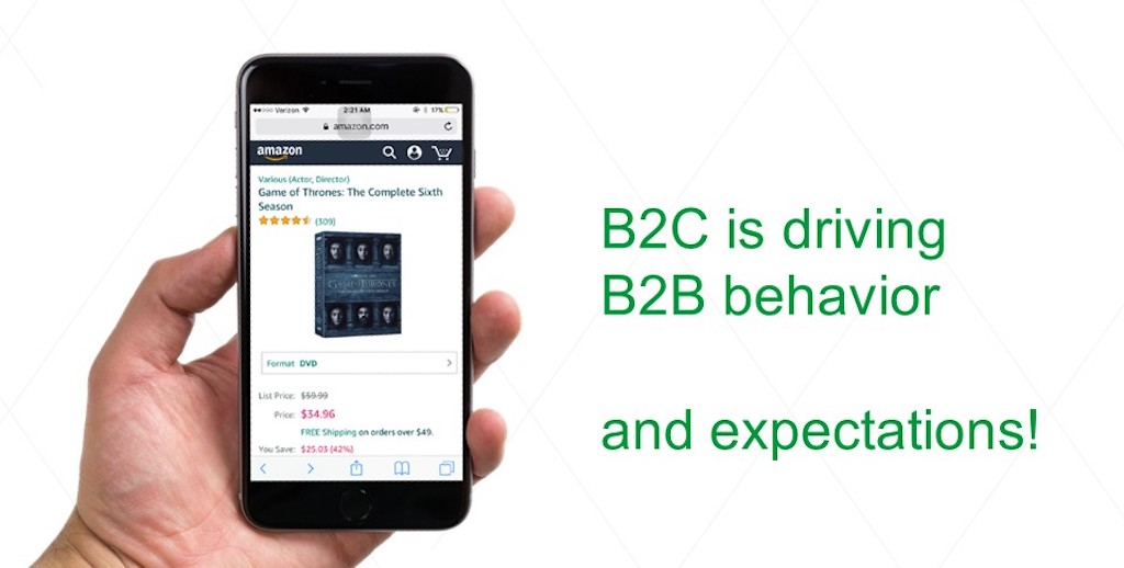 Business-to-consumer is driving business-to-business behavior