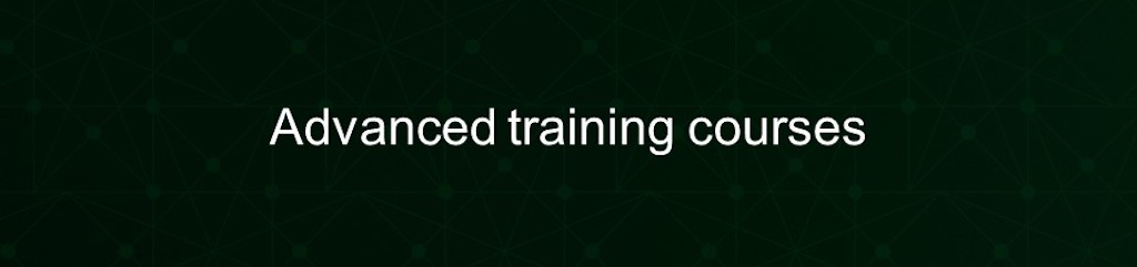 Investing in advanced training courses