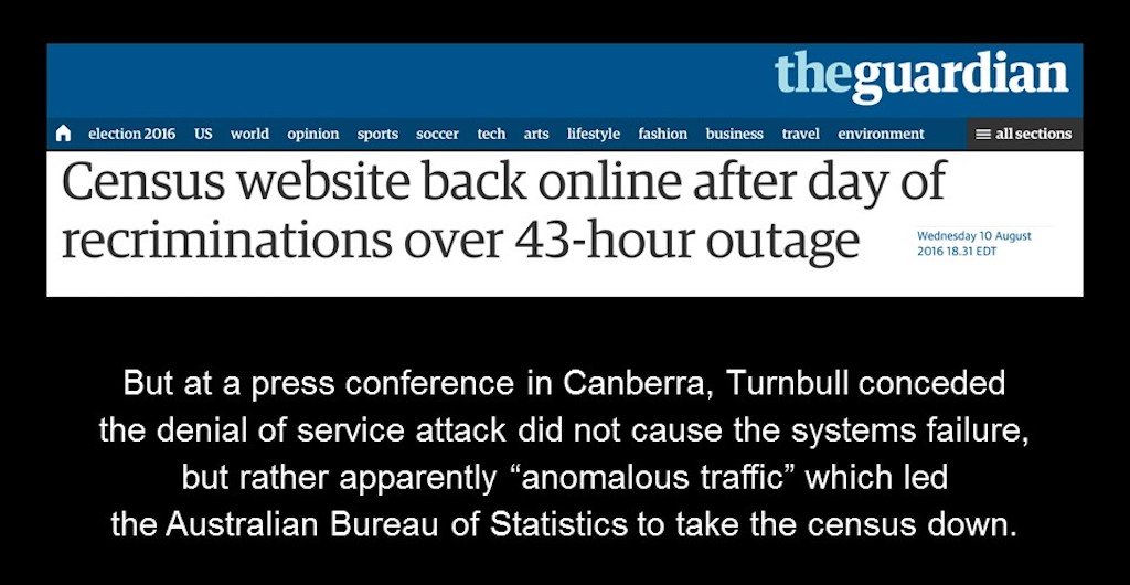 Without NGINX load balancing and web serving capabilities, the Australian census website was down for 43 hours