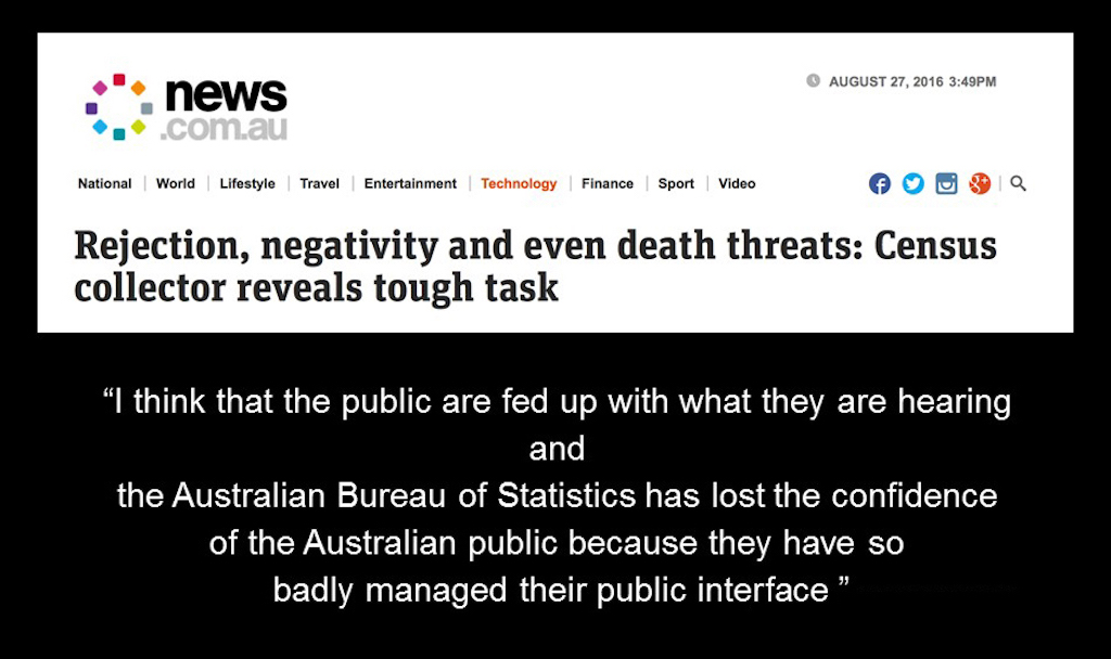 Census collectors receive negative feedback, including death threats