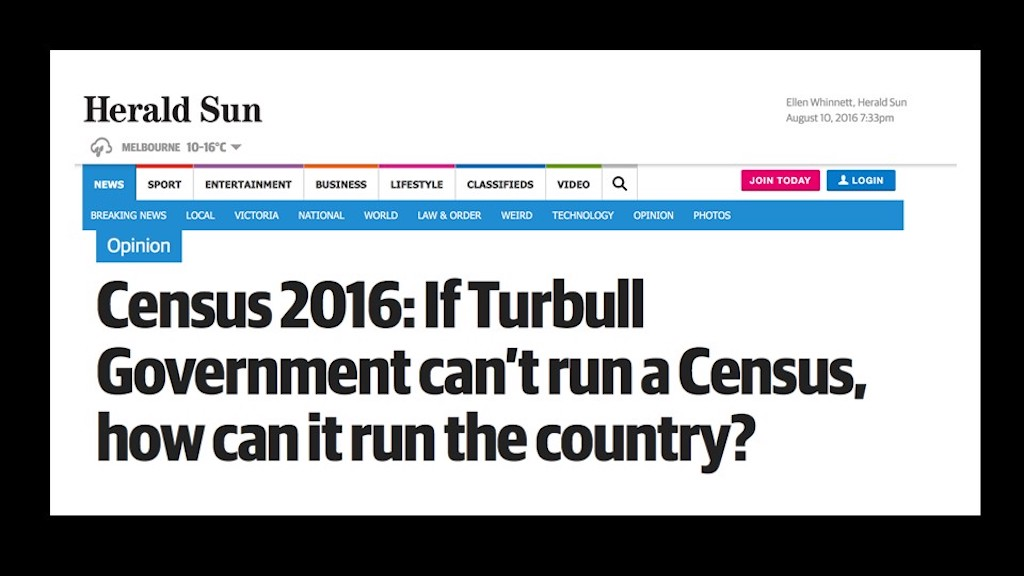 Negative census experience affects the Prime Minister's credibility