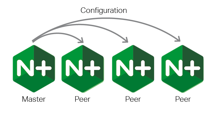 Sync config changes from master to peers with NGINX Plus R12