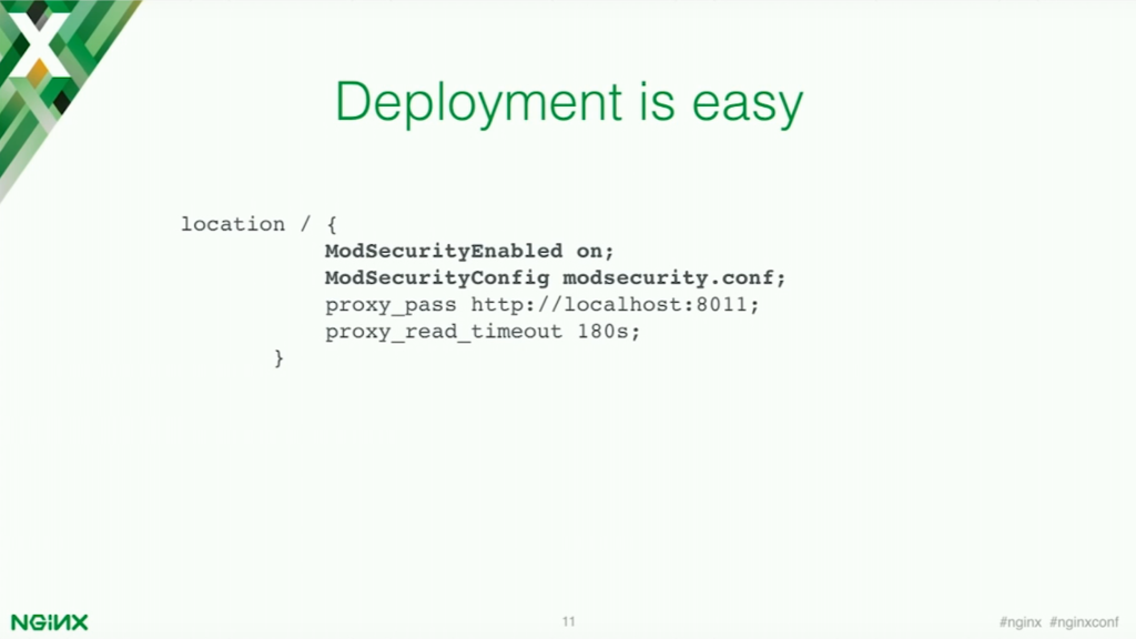Deploying ModSecurity for application security is easy [presentation by Stepan Ilyan, cofounder of Wallarm, at nginx.conf 2016]