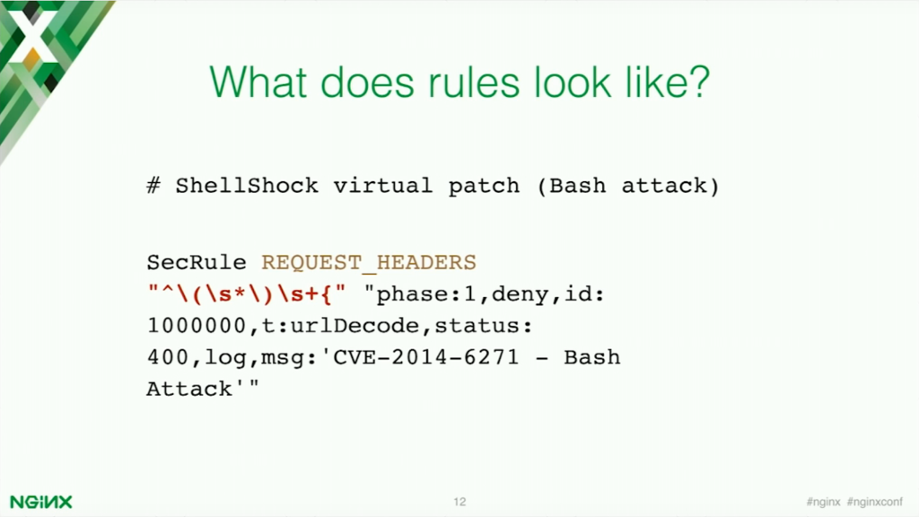 ModSecurity application security rules [presentation by Stepan Ilyan, cofounder of Wallarm, at nginx.conf 2016]