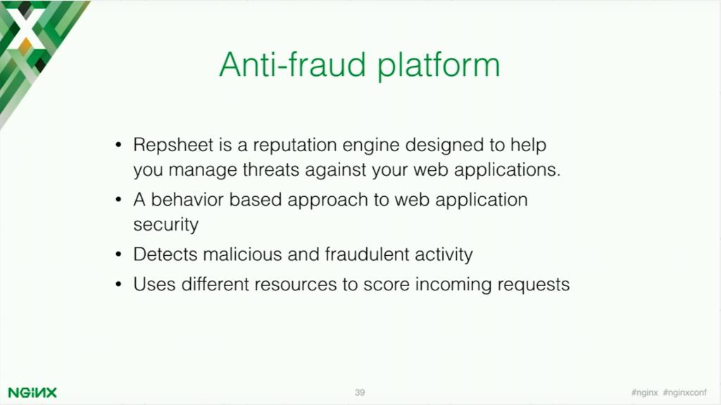Repsheet is an anti-fraud platform [presentation by Stepan Ilyan, cofounder of Wallarm, at nginx.conf 2016]