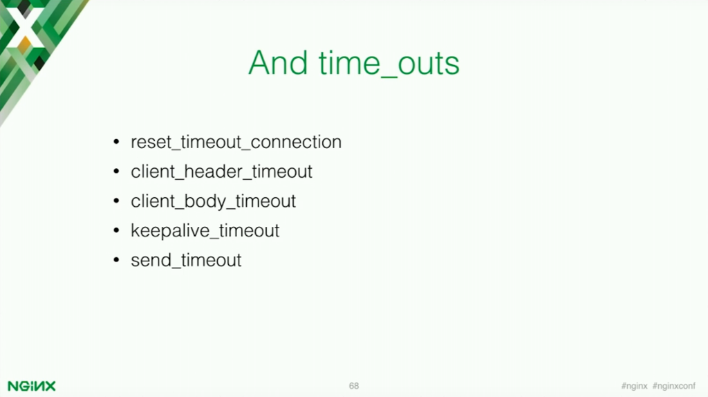 NGINX directives to limit timeouts for application security [presentation by Stepan Ilyan, cofounder of Wallarm at the nginx 2016 conference]