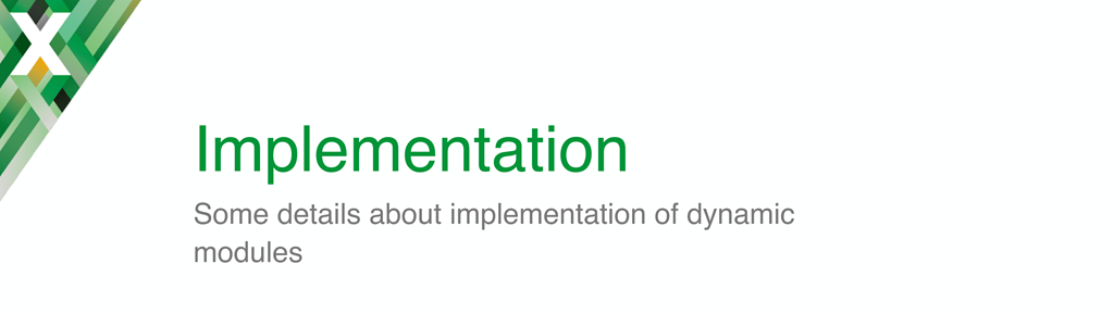 Introductory slide for the section about implementing dynamic modules in the nginx.conf 2016 presentation by Maxim Dounin, developer of dynamic modules at NGINX, Inc.