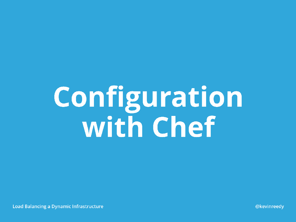 Configuration with Chef introductory slide [presentation by Kevin Reedy of Belly Card at nginx.conf 2014]
