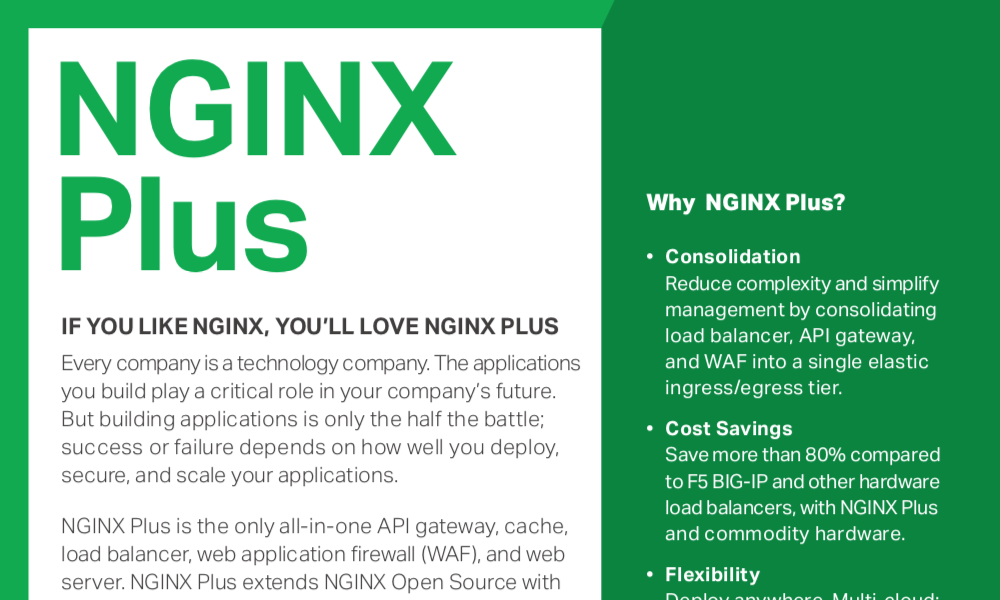 NGINX Plus software load balancer, web server, and cache | NGINX