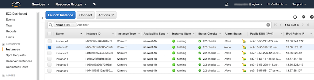 NGINX Docs | Creating Amazon EC2 Instances for NGINX Open Source and