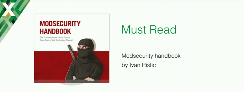 The ModSecurity Handbook by Ivan Ristic gives valuable insights into application security