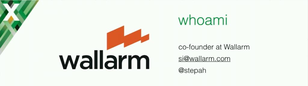 Slide introducing Stepan Ilyan at nginx.conf 2016