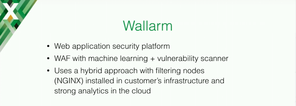 Wallarm is a web application security platform with machine learning and vulnerability scanner