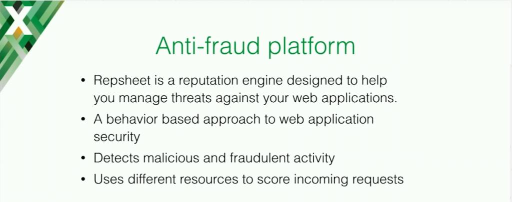 repsheet is an anti-fraud platform
