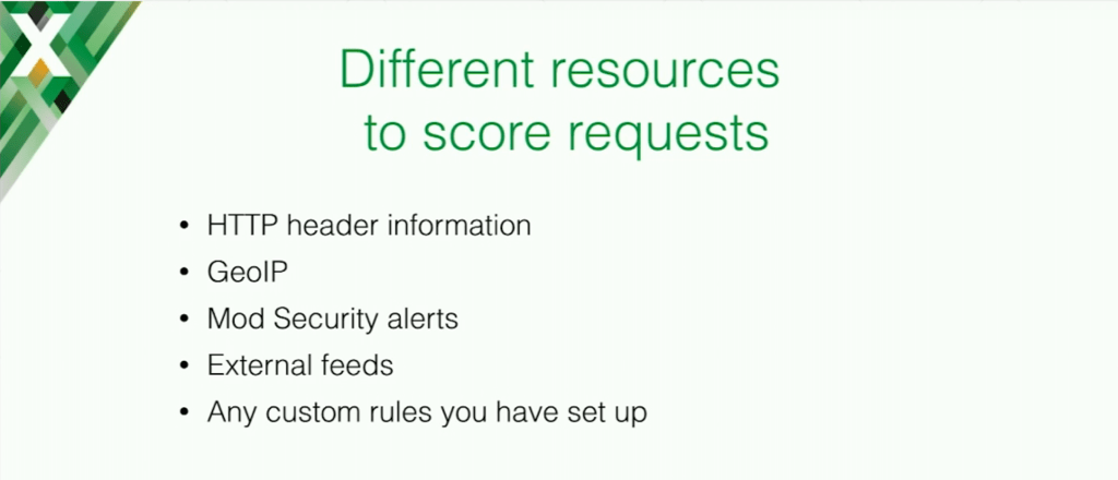 A benefit of Repsheet is that you can use different sources of information to score and analyze requests for maximum application security
