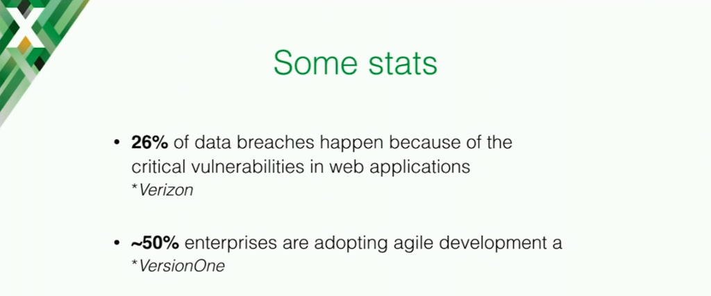 Some statistics on application security