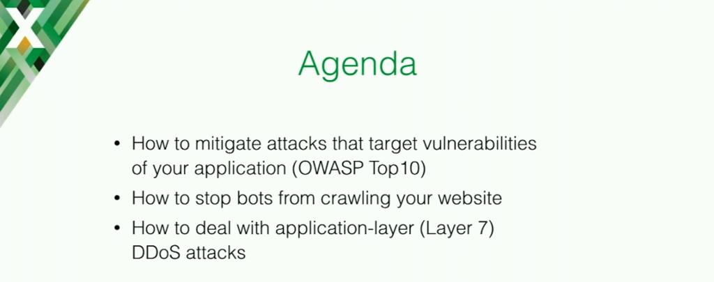 Agenda for Stepan Ilyan's presentation at nginx.conf 2016