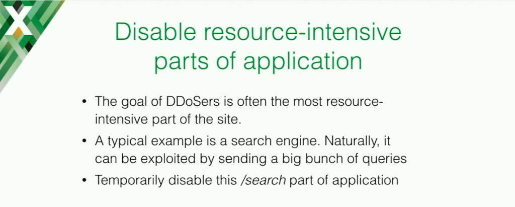 The target of DDoSers is often the most resource-intensive part of the site