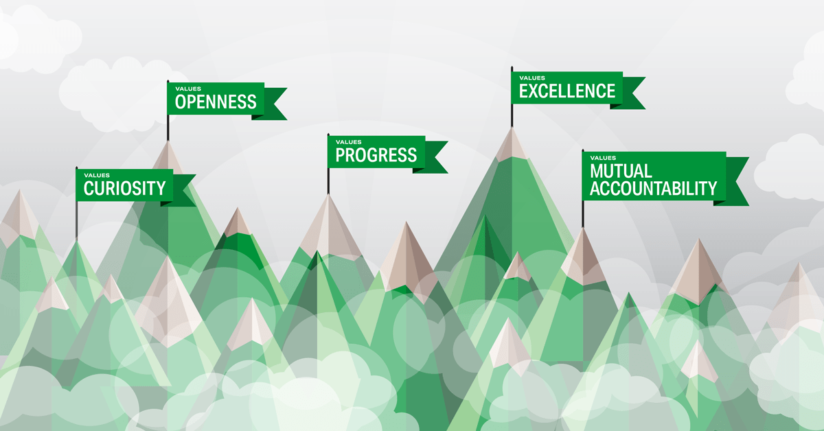 NGINX Core Values Mountain and Flags