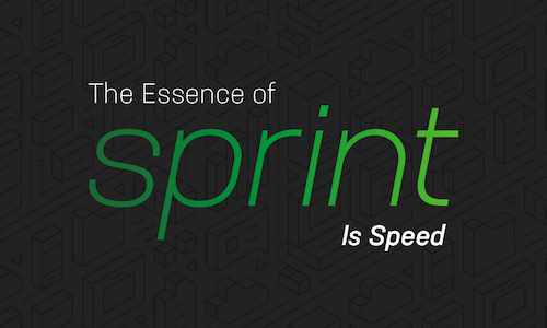 The Essence of Sprint is Speed