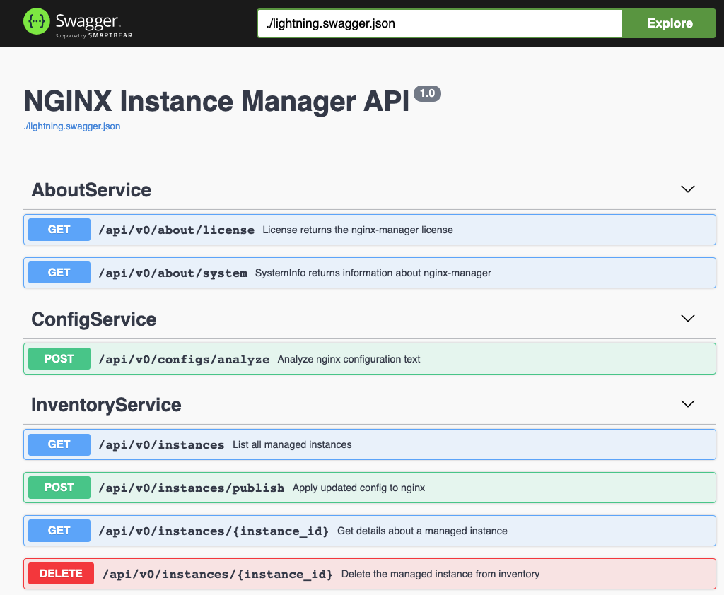 API for NGINX Instance Manager