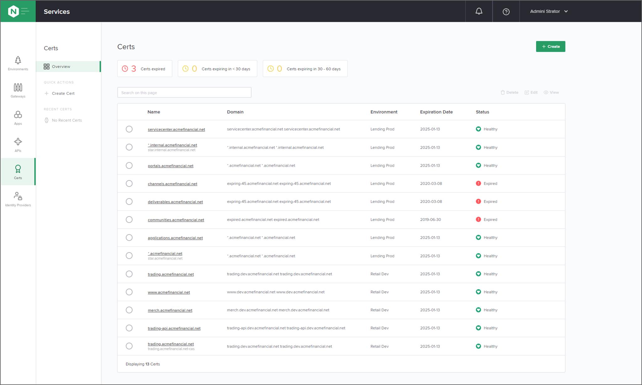 NGINX Controller certificate management