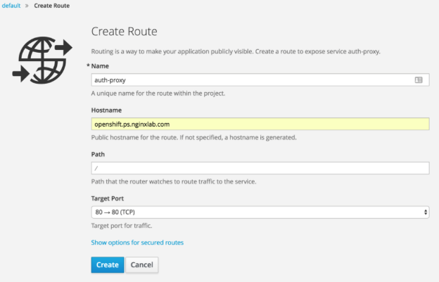 Create Route tool in OpenShift for uploading SSL/TLS certificates